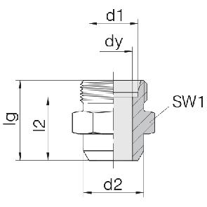 Соединение для труб под сварку прямое 24-WDS-S25-C00
