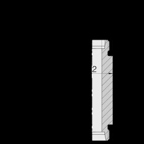 Соединение для труб переборочное прямое под сварку  24-WDBHS-L28-C00