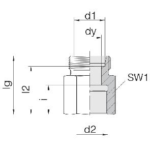 Соединение для труб переходное прямое 24-S-L6-IM10