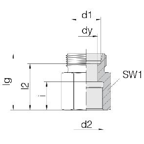Соединение для труб переходное прямое 24-S-L6-IG1/8