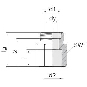 Соединение для труб переходное прямое 24-S-S6-IG1/4