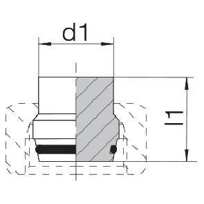 Заглушка на трубу с уплотнительным кольцом 24-PLO-L/S6