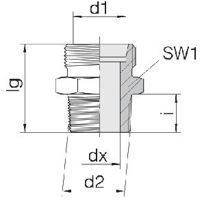Соединение для труб штуцерное прямое коническое 24-SDS-LL4-M6T
