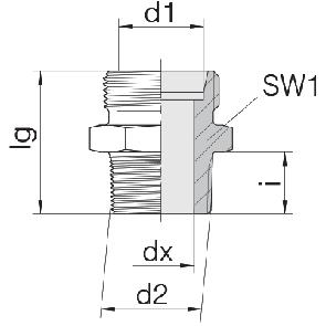 Соединение для труб штуцерное прямое коническое 24-SDS-LL4-R1/8T