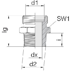Соединение для труб штуцерное прямое коническое 24-SDS-LL4-N1/8T
