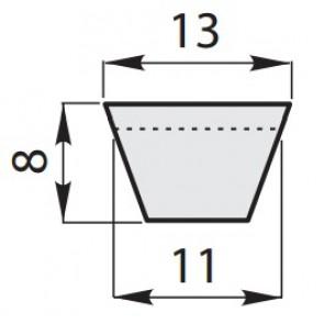 Ремень приводной клиновый классический A-65/1650
