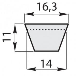 Ремень приводной клиновый классические зубчатый BX-53/1390