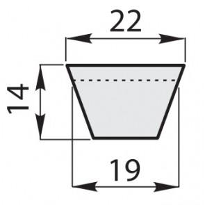 Ремень приводной клиновый классические зубчатый CX-110/2858