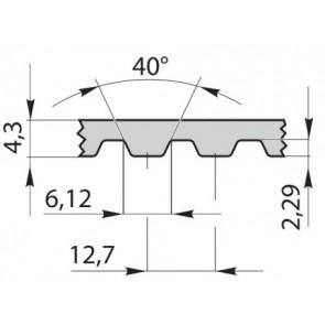 Ремень приводной  зубчатый полиуретановый 615H050