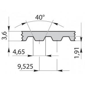 Ремень приводной зубчатый 255L100 Linatex 10mm