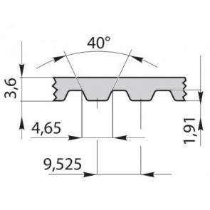 Ремень приводной зубчатый 270L050